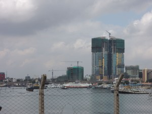 There are a ton of new buildings going up in Dar. Mostly hotels and large apartment buildings. What is strange is that they are being designed and built by Chinese workers.